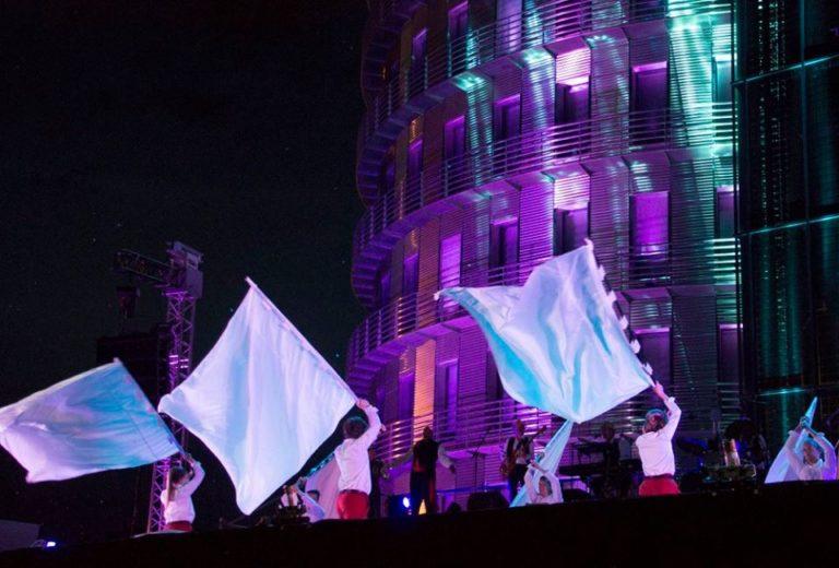 drapeaux + facade